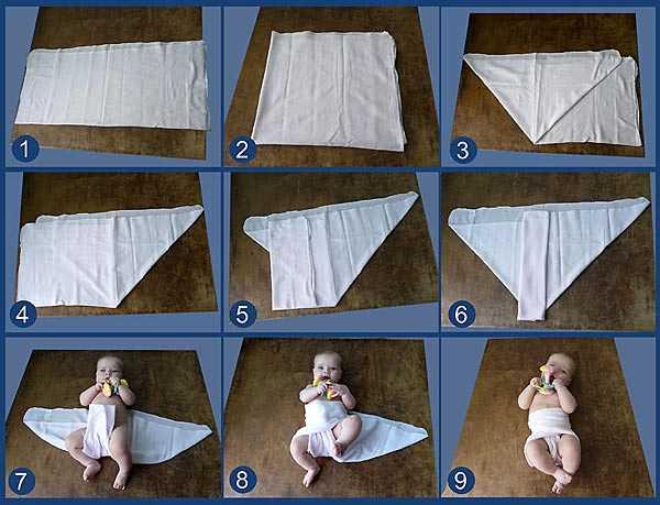 Как из пеленки сделать памперс для