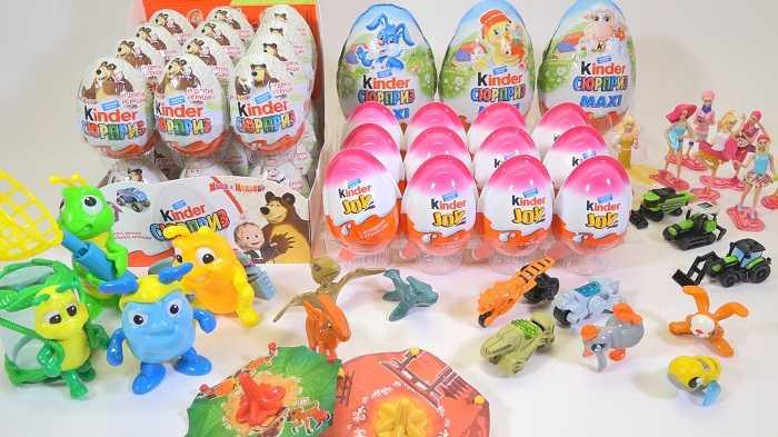 Коллекция киндеров и игрушек из них