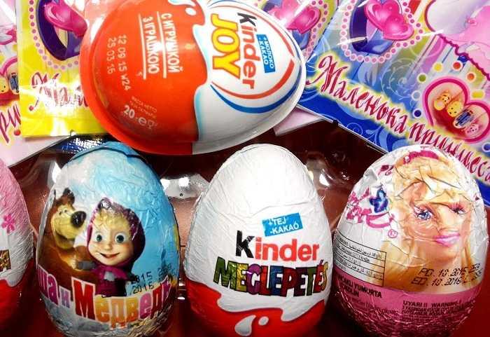 Яйца киндер сюрприз из разных коллекций