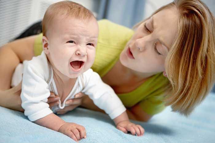 Плач малыша - причина прошения в туалет