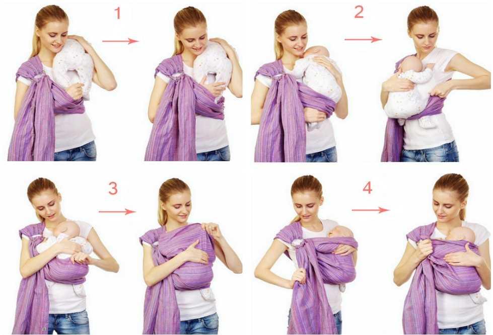 Как приучить малыша к слингу с кольцами