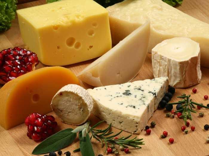 Многообразие сортов сыра позволит выбрать оптимальный при ГВ