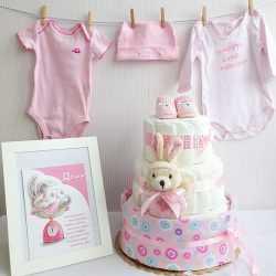 Комплект из торта, открытки и одежды в подарок
