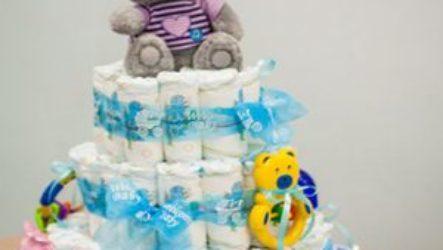 Торт из памперсов для мальчика и девочки — делаем подарок самостоятельно