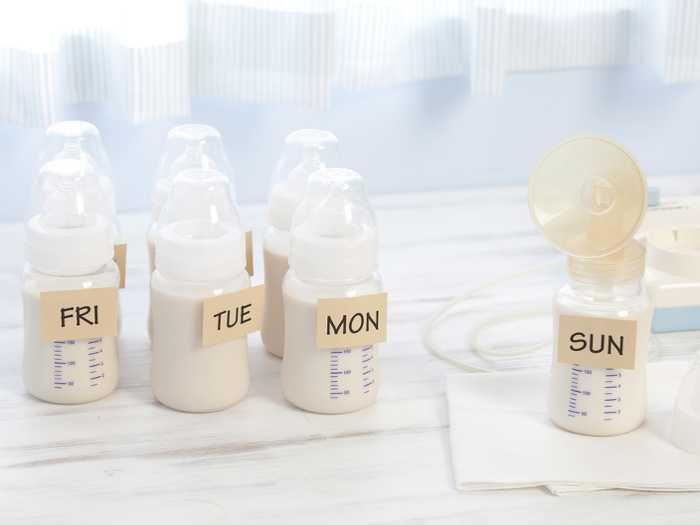 Заготовки грудного молока по дням недели