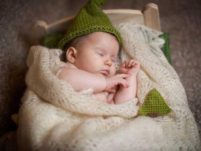 Стилизованная фотосессия про сон младенца