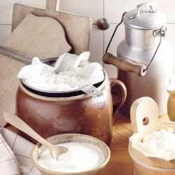 Сметана и творог из козьего молока