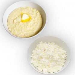 Молочные каши и творожные продукты подходят для прикорма