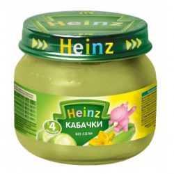 Кабачки без соли от Heinz добавляют в рацион с 4 месяцев