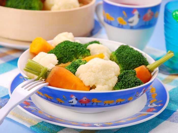 Свежие овощи для первого прикорма