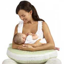 Процесс кормления грудью маленького ребенка