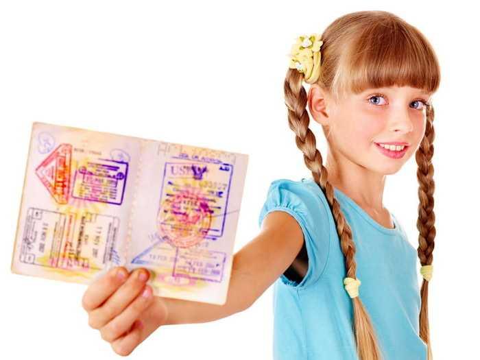 В настоящее время на детей можно оформить загранпаспорт